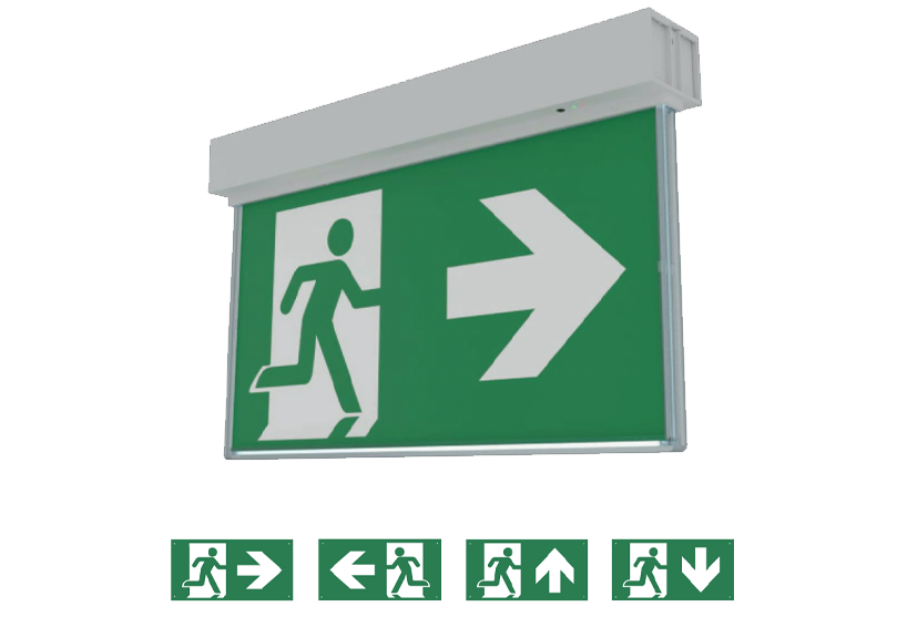 Genstar emergency exit sign