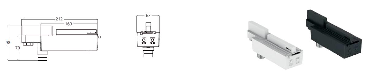 genstar open area emergency track lighting specs